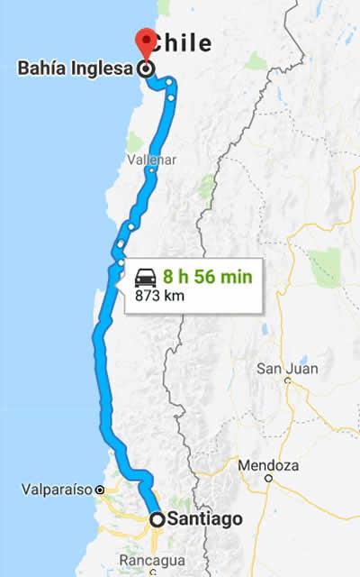 Como llegar a Bahía Inglesa Chile